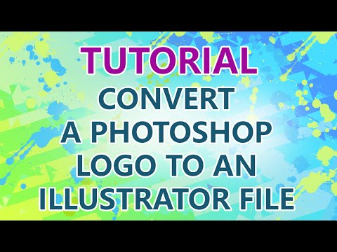 TUTORIAL: Converting a Photoshop logo to Illustrator vector eps