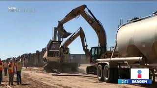 Donald Trump presume la construcción del muro en la frontera entre México y Estados Unidos