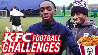 KFC FOOTBALL CHALLENGES WITH MINIMINTER AND TBJZL!!!
