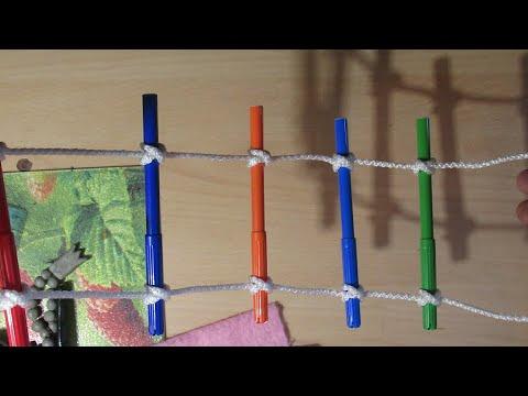 Как вязать веревочную лестницу