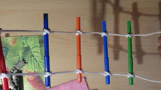 как связать веревочную лестницу