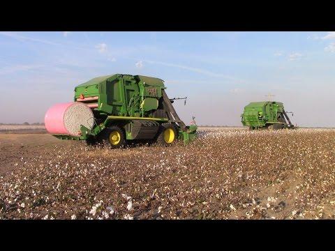 How a John Deere 7760 Baler Cotton Picker Works
