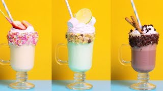 Классические милкшейки: готовим молочные коктейли дома!