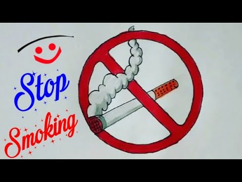 How To Draw Stop Smoking Easy Drawing Quit Smoking Colourful Drawing Step By Step No Smoking Youtube