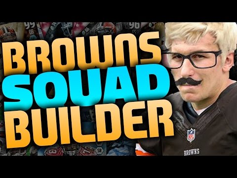 ALL-TIME CLEVELAND BROWNS SQUAD BUILDER & GAMEPLAY   MADDEN 16 ULTIMATE TEAM