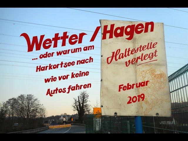 Wetter (Ruhr) / Hagen: Obergrabenbrücke am Harkortsee weiterhin gesperrt (Februar 2019)