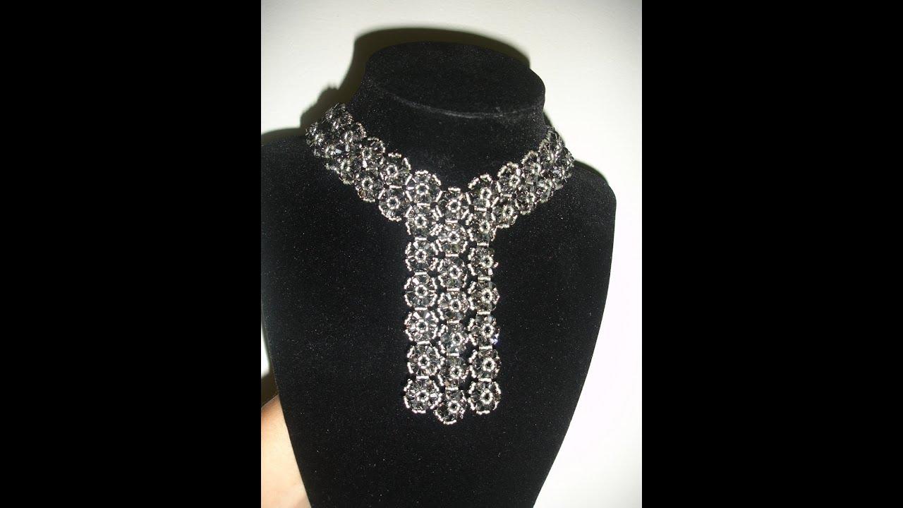 Handmade Jewelry: Elegant Black Trio Necklace Part 1 of 2 - YouTube