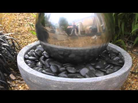 Corona Stainless Steel Sphere Water Feature