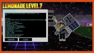 NEW ROBLOX EXPLOIT LEVEL 7:Lemonade LUA SCRIPT EXECUTOR! (Sep 28)(Working)
