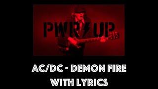 AC/DC - Demon Fire With Lyrics