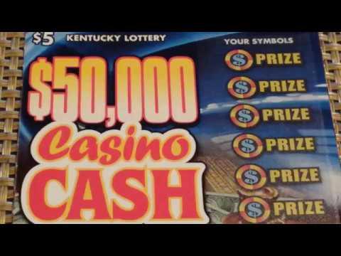 """BIG WIN!!! - """"$50K CASINO CA$H"""" KY. LOTTERY SCRATCH-OFF!!!"""