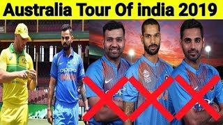இந்திய அணியில் 3 முக்கிய வீரர்களுக்கு ஓய்வு | India VS Australia Tour 2019 | Kohli | Rohit | Dhawan