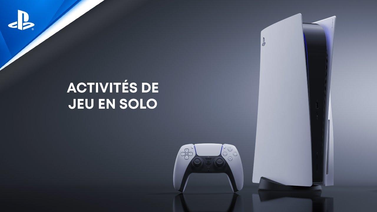Explorer l'interface utilisateur de la PS5 - Activités de jeu en solo
