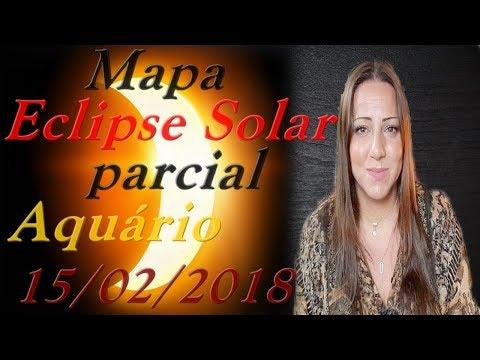 Mapa | ECLIPSE SOLAR parcial em AQUÁRIO 15/02/2018 | LUNAÇÃO - Encontros Astrológicos