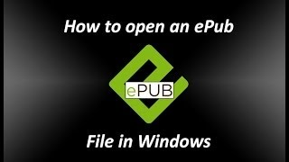 How to open an ePub file in Windows