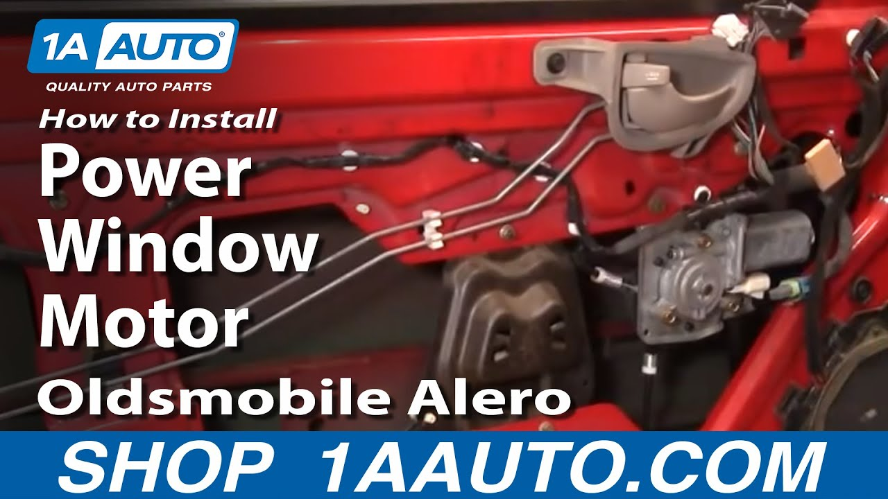 hight resolution of how to install replace power window motor oldsmobile alero 99 04 rh youtube com 2002 ford