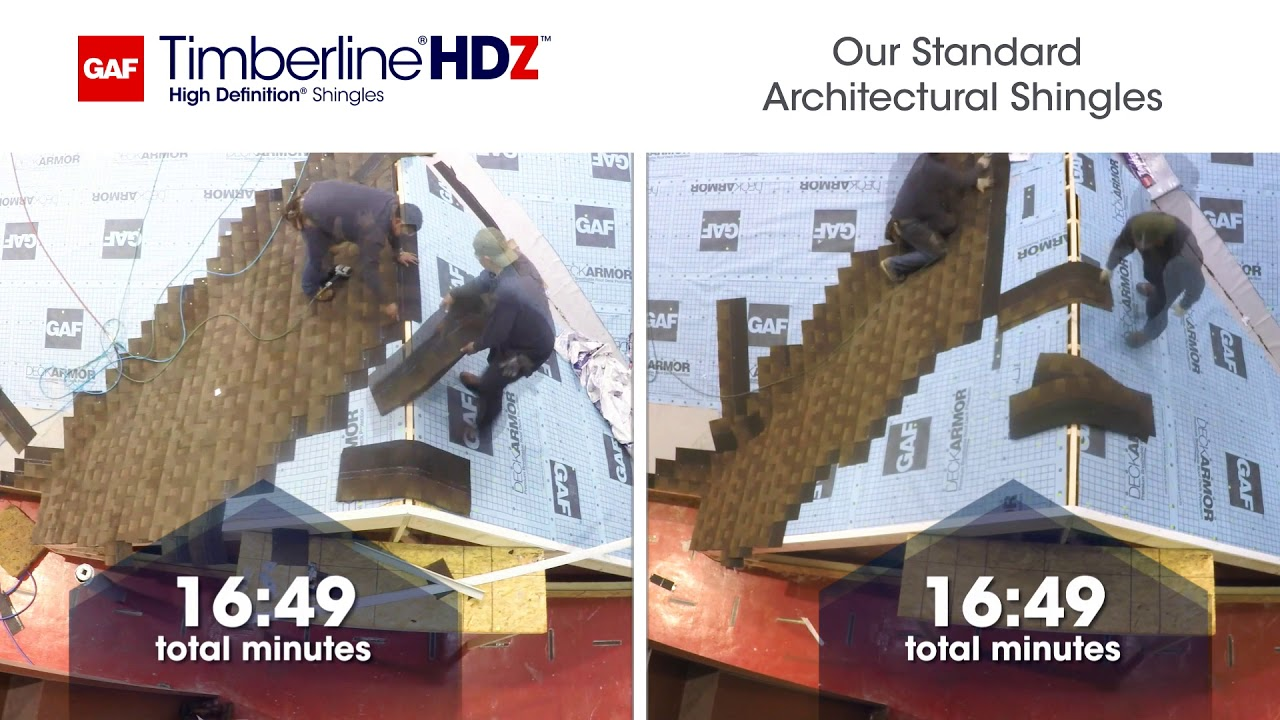 Is GAF Timberline HDZ Faster (and More Accurate) to Install? | GAF Roofing