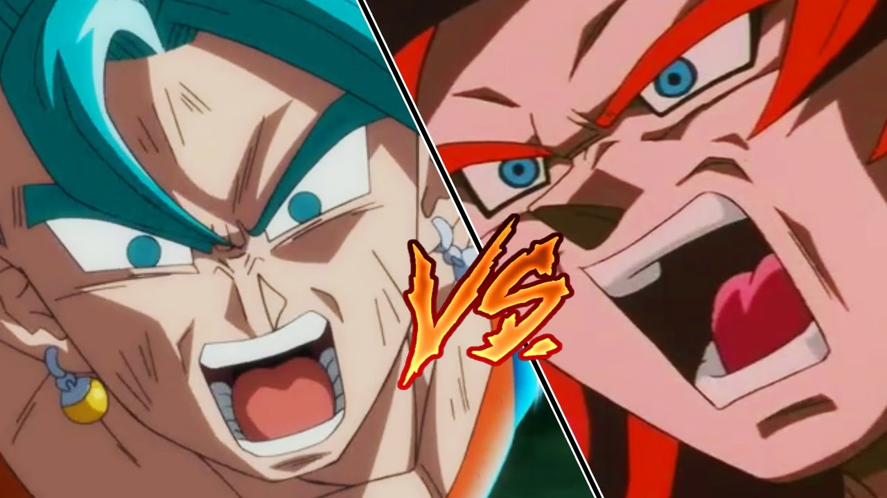 Vegito Vs Gogeta Super Saiyan Blue Vs Super Saiyan 4 Youtube