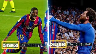 Epic Barcelona Last Minute Goals