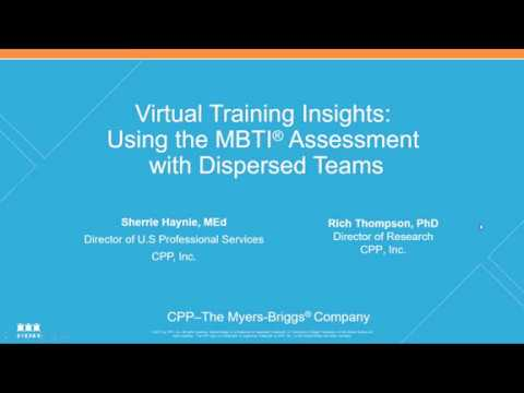Virtual Training Insights: Using the MBTI® Assessment with Dispersed Teams