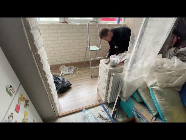 Смотреть видео Гардеробная + спальня на балконе
