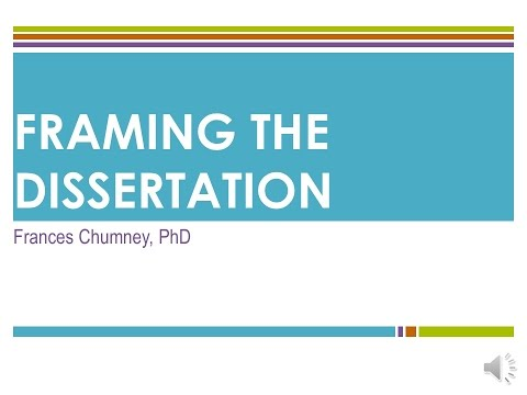 Theoretical & Conceptual Frameworks in the Dissertation