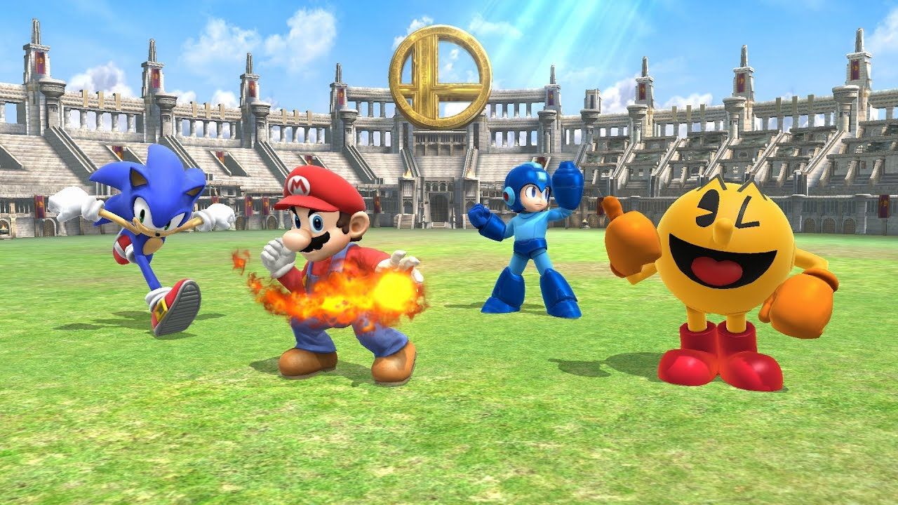 Mario Vs Sonic Vs Megaman Vs Pacman SSBWU - Mario vs Sonic...