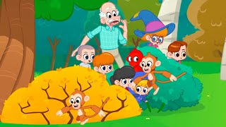 Monkeys in The Forest   My Red Monkey   Kids Cartoon   Mila and Morphle Official