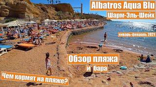 Египет 2021 Шарм Эль Шейх Albatros Aqua Blu Обзор пляжа и бара на пляже Анимация на пляже
