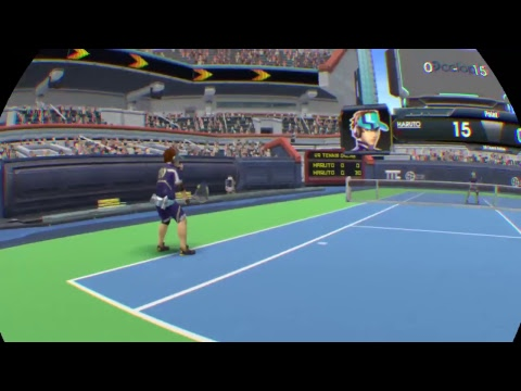 VR Tennis game play