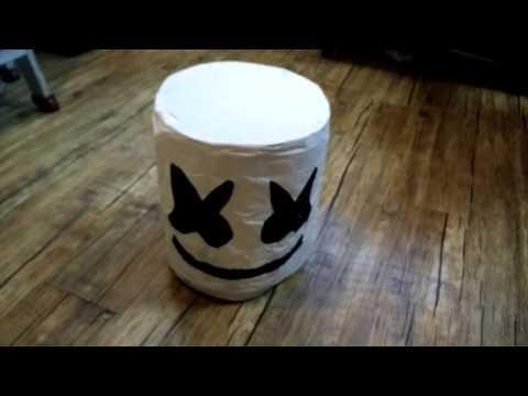 DIY  MARSHMELLO HELMET WITH LED'S