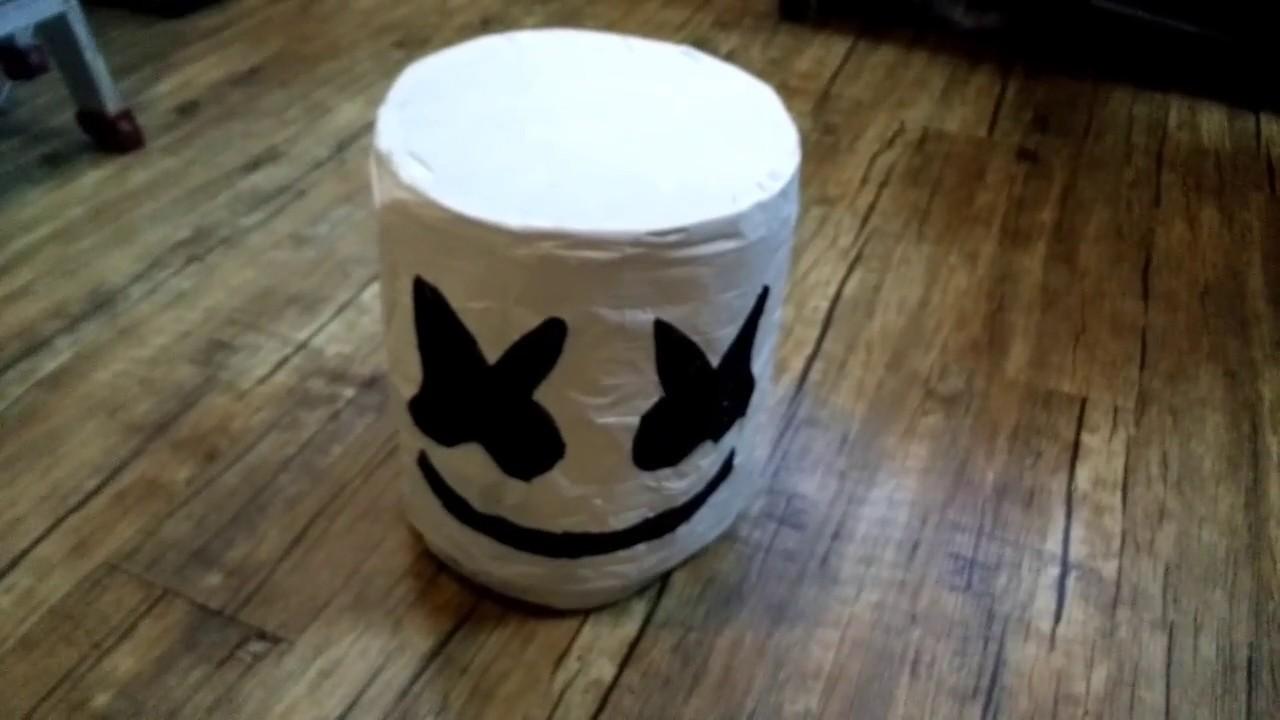 Diy Marshmello Helmet With Led S Youtube