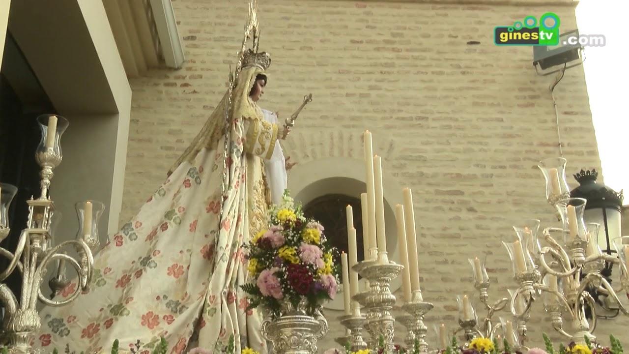 Este domingo, procesión de Nuestra Señora de Belén por las calles de Gines por la Candelaria