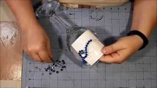 Wine Glass Embellishment Tutorial - Bling!