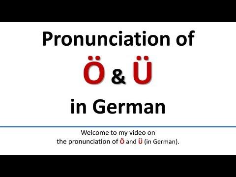 German: Pronunciation of Ö, Ü English subtitlesAussprache von Ö, Ü englische Untertitel