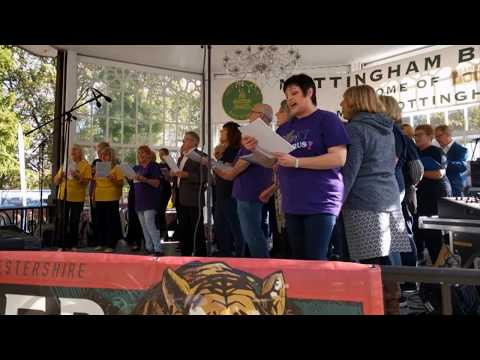 Fun Chorus at Nottingham Robin Hood Beer Festival 2017