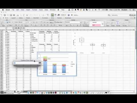 how to make box plot ms excel mac