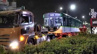京阪 13000系 13027F 13777 ・ 13077号車 新車搬入【 4K 】