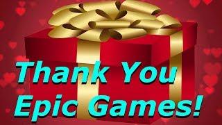 Fortnite - Nous a envoyé un énorme cadeau, V-Bucks gratuit et matériaux! Merci Epic Games!