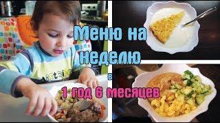 Недельное меню ребенка в 1 год и 6 месяцев / Дневник питания