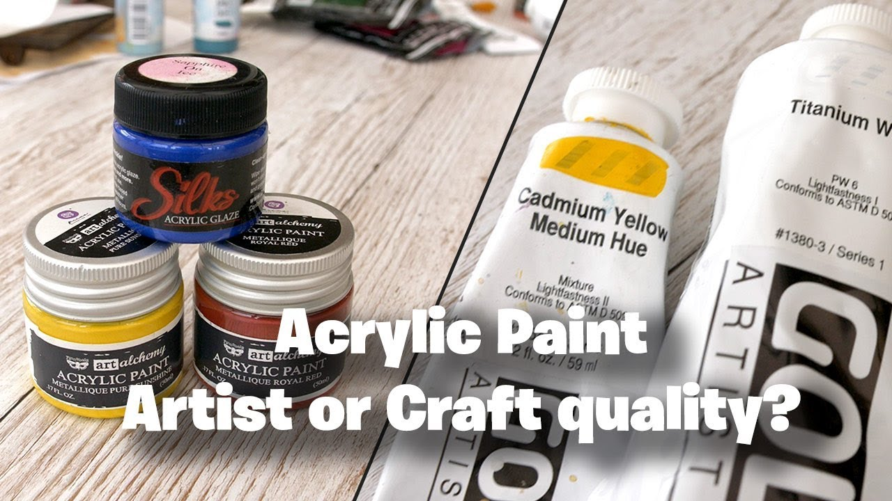 Acrylics Craft Or Artist Quality Which Is Best For Mixed Media Artists