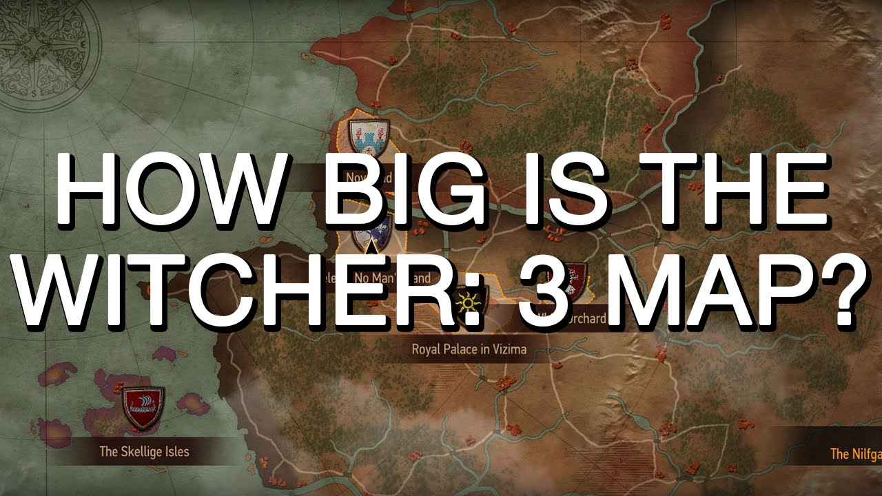 How big is the Witcher: 3 map? Realistic comparison - YouTube