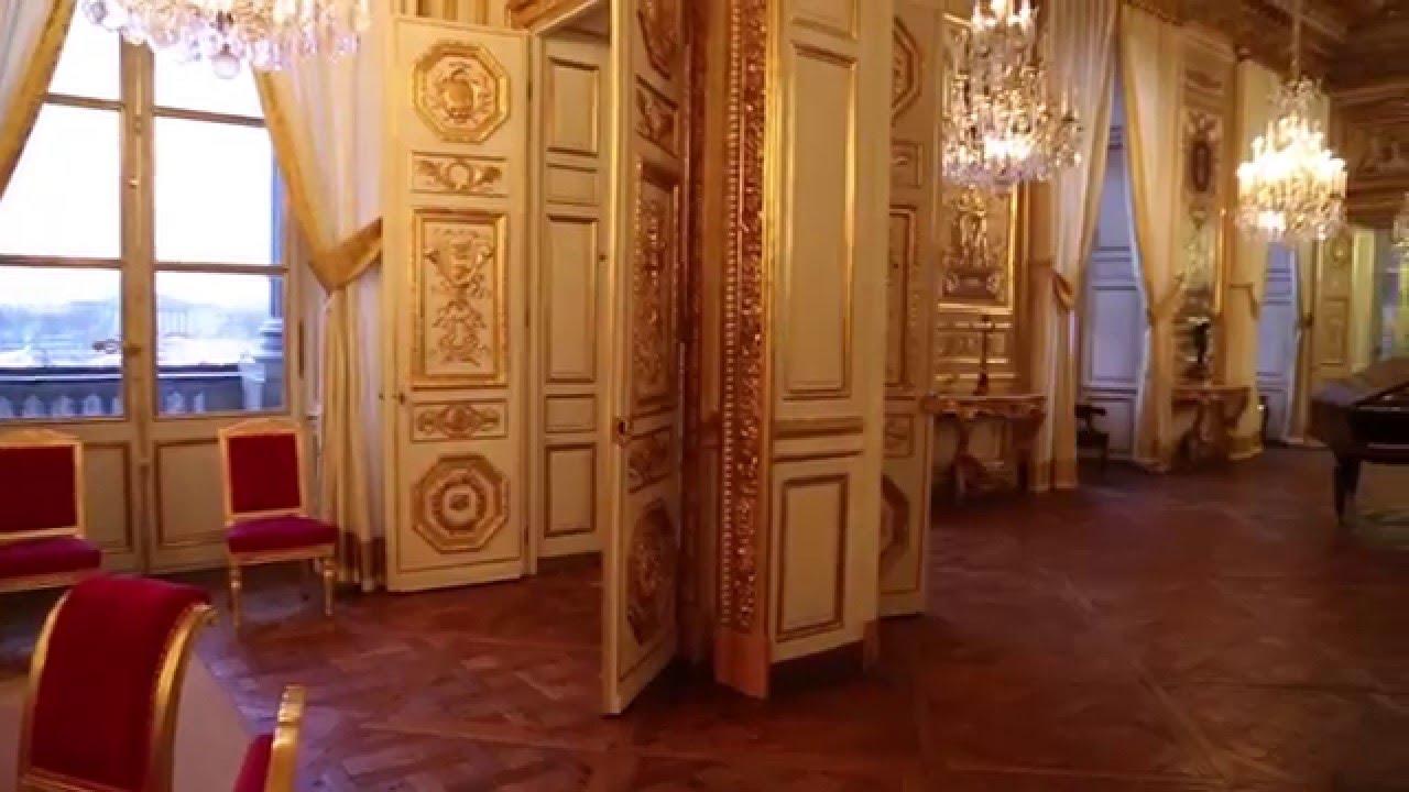visite exceptionnelle de h tel de la marine de paris salon d 39 honneur youtube. Black Bedroom Furniture Sets. Home Design Ideas