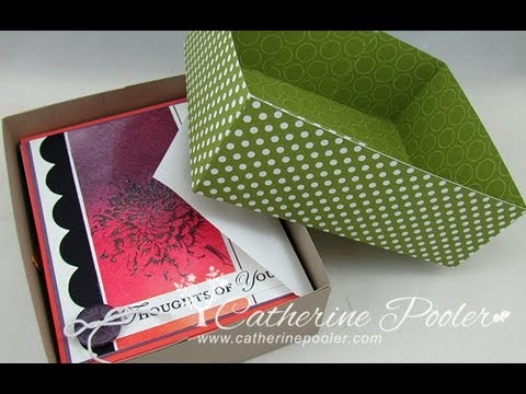 """1/16"""" Rule of Box Making - Make a Card Box for gift giving with Catherine Pooler"""