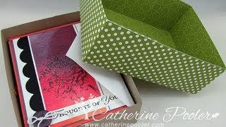 "1/16"" Rule Of Box Making - Make A Card Box For Gift Giving With Catherine Pooler"
