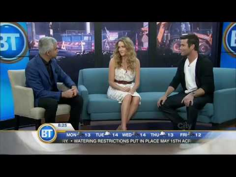 Yannick Bisson & Hélène Joy at Breakfast Television Vancouver