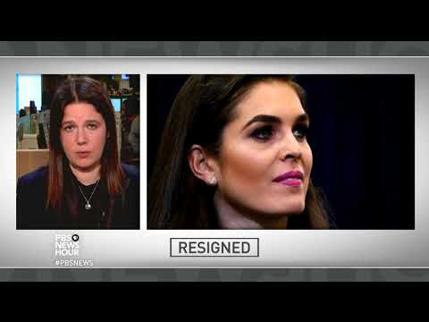 Why is Hope Hicks, Trump's longest-serving aide, resigning?