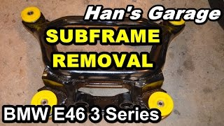 BMW E46 3 Series Removing Rear Suspension Subframe Reinforcement Part. 1