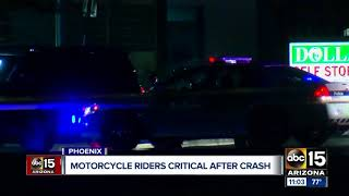 Motorcycle riders seriously hurt after crash near 43rd and Peoria avenues