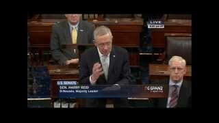 Harry Reid calls for passage of Clay Hunt Suicide Prevention Act